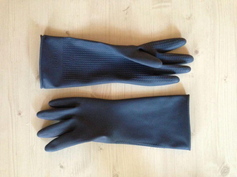 Not using gloves